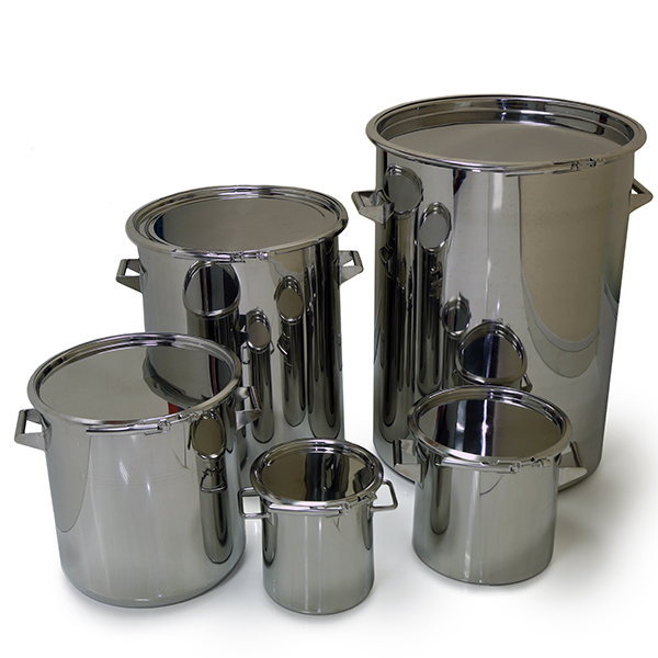 Stainless Storage Drums - 316L stainless steel title=