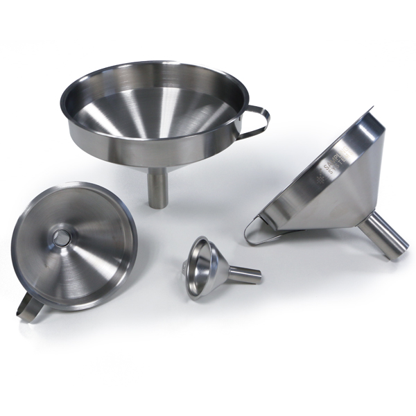 Industrial Funnel. 304ss. Straight Spout. title=