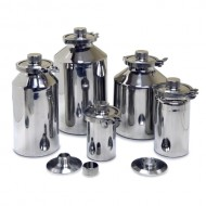 Stainless Containers (1 to 30 Litres) with GL45 Thread & Cap