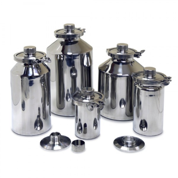 Stainless Containers (1 to 30 Litres) with GL45 Internal Thread title=