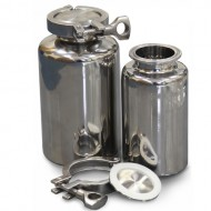 316L Stainless Clamp Top Bottle