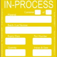 """In Process"" Quality Control Labels"