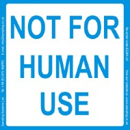 """Not for human use""  Quality Control Labels"