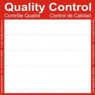 Red Quality Control Labels