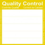 Yellow Quality Control Labels